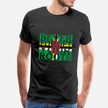 Dominica never forget roots home Dominica - Men's Premium T-Shirt