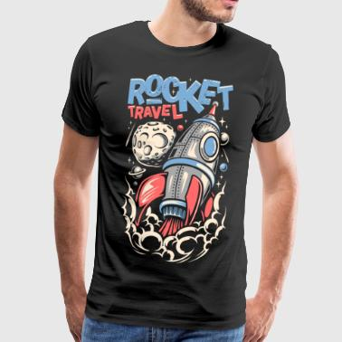 Travel by spaceship into space - Men's Premium T-Shirt