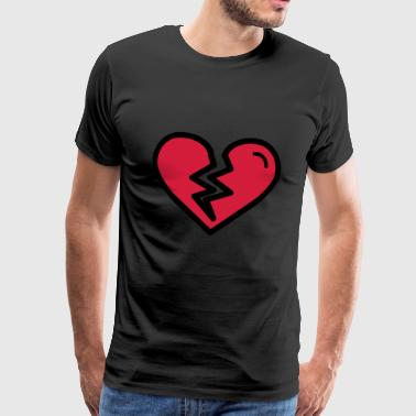 Broken heart, heartache sadly in love - Men's Premium T-Shirt