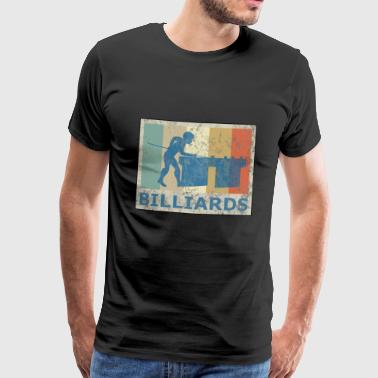Retro Vintage Style Pool Billiard Snooker Spieler - Männer Premium T-Shirt