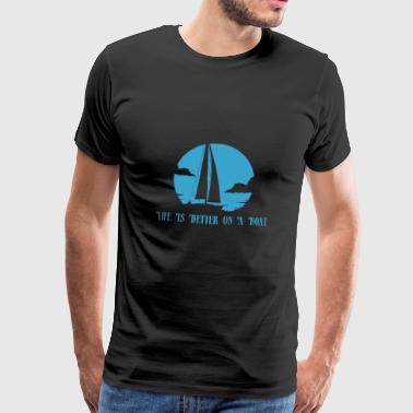 Sailing life Beautiful boat gift wind dinghy - Men's Premium T-Shirt