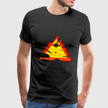 Attention UFO warning sign - Men's Premium T-Shirt