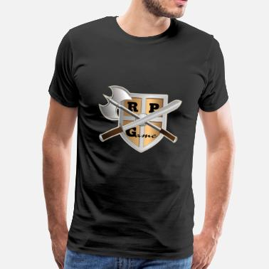 Fighting Fantasy RPG fight swords - Men's Premium T-Shirt