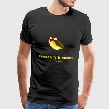 Kreation Great Titmouse - Kohlmeise - Männer Premium T-Shirt