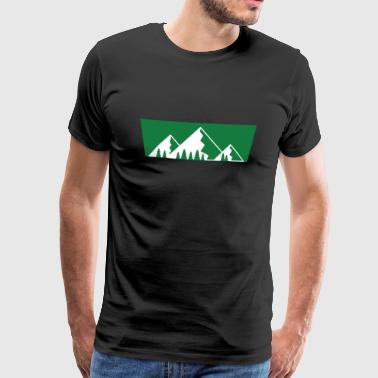 Summit Retro Mountains Print Design - Men's Premium T-Shirt
