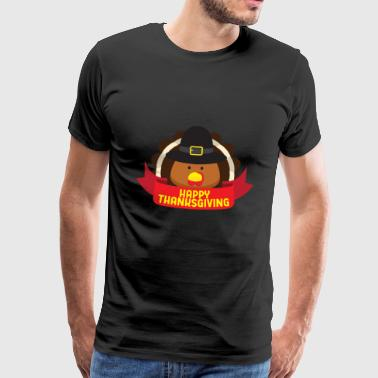Thanksgiving Thanksgiving kalkon gåva - Premium-T-shirt herr