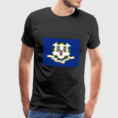 Connecticut flagga - Premium-T-shirt herr