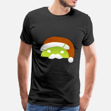 Android Julen android logo - Herre premium T-shirt