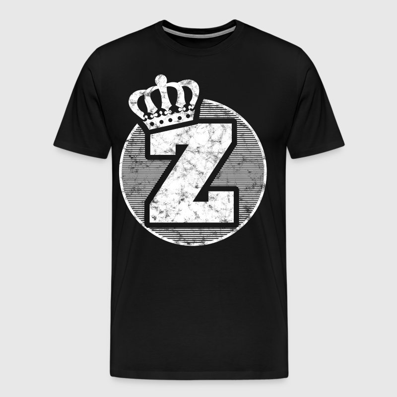 Stylish letter Z with crown - Men's Premium T-Shirt