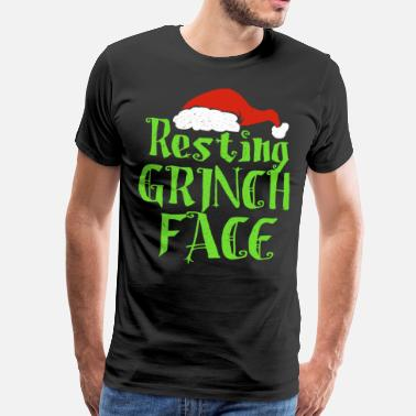 The Grinch Resting Grinch Face - Men's Premium T-Shirt