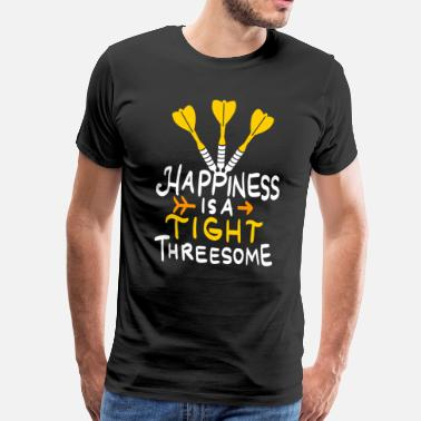 Threesome Funny Threesome Dart Shirt - Men's Premium T-Shirt