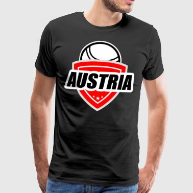 Fistball Austria Team WC Gift - Herre premium T-shirt