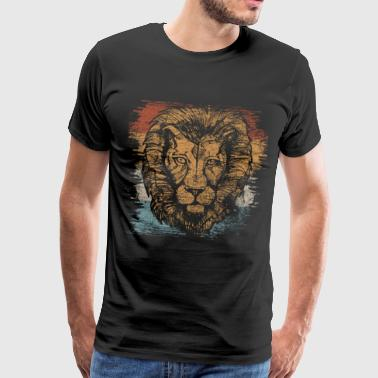 Lion Safari King Zoo Animal Gift Circus - Camiseta premium hombre