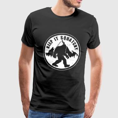 Bigfoot Sasquatch - Premium-T-shirt herr