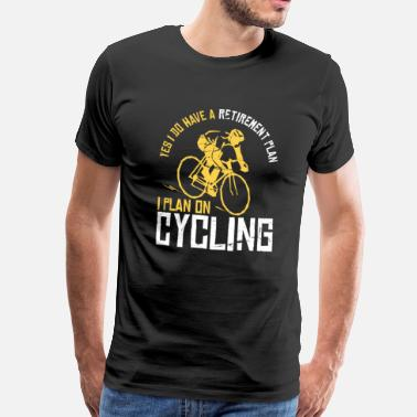 Pensioner Bicycle - pensioner pension gift - Men's Premium T-Shirt