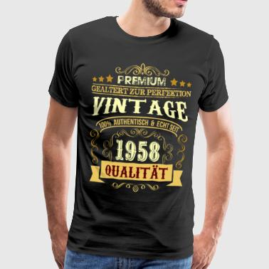 60th Birthday Shirt Gift Ektemann og Hustru Funny - Premium T-skjorte for menn