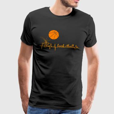 Heartbeat Basketball Heart Rate - Männer Premium T-Shirt