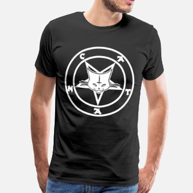 Satanism Satanic Baphomet Cat - CATAN - Men's Premium T-Shirt