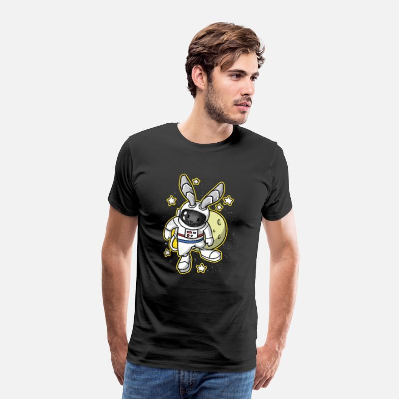 Birthday T-Shirts - Bunny Easter Space Astronaut Gift - Men's Premium T-Shirt black