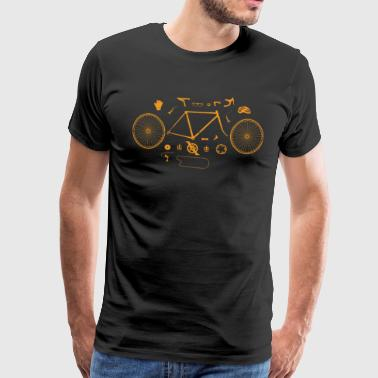 Cool Bike Parts - Bicycle Rider T-Shirt - Men's Premium T-Shirt