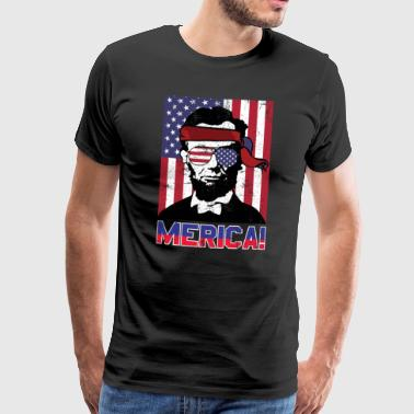 Fourth of July America Abe Lincoln - Men's Premium T-Shirt