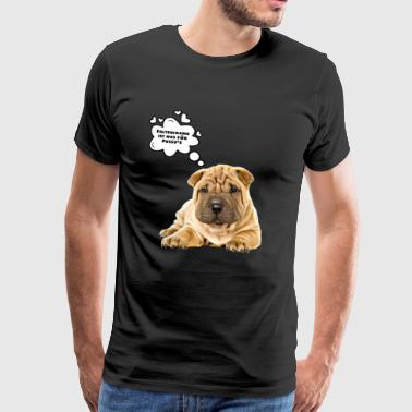 Fold dog shirt, fold dog - Men's Premium T-Shirt