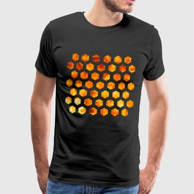 hexagon vlam - Mannen Premium T-shirt