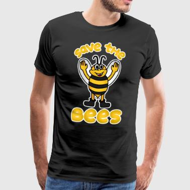 Save the Bees Bee Honey Beekeeper Flowers Gift - Men's Premium T-Shirt