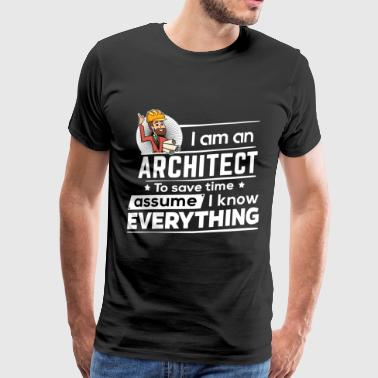 Proud Architect - To Save Time - Männer Premium T-Shirt