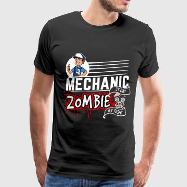 Proud Mechanic - Zombie by night - Mannen Premium T-shirt