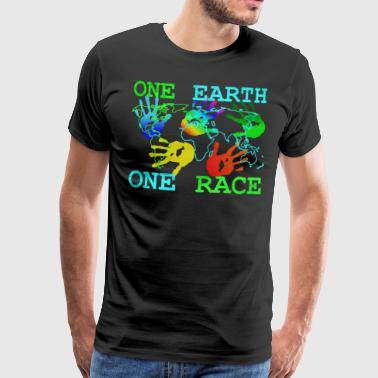 Camiseta Anti Racismo - One Earth One - Camiseta premium hombre