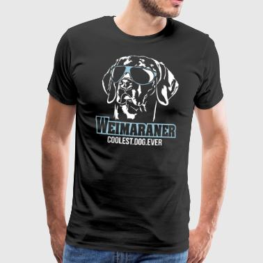 WEIMARANER coolest dog ever - Men's Premium T-Shirt