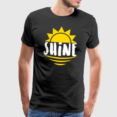 Shine - lights, rays - Men's Premium T-Shirt