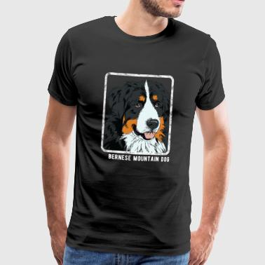 Dogs - Bernese Mountain Dog - Men's Premium T-Shirt