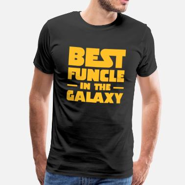 Handsome Family Best Funcle In The Galaxy | Gift For A Fun Uncle - Men's Premium T-Shirt