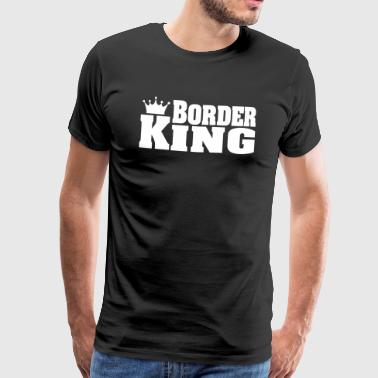 BORDER KING Border Collie Border Terrier - Männer Premium T-Shirt