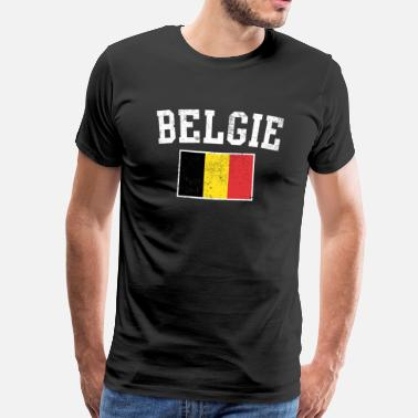 Supporteur National Belgie - T-shirt Premium Homme