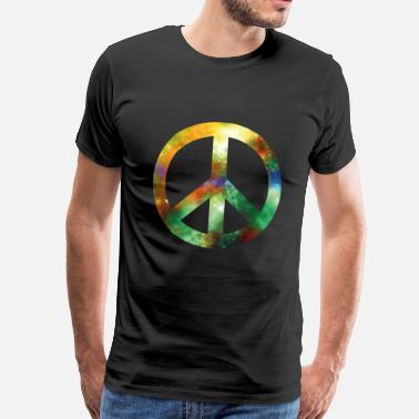 Hipster Universe Peace sign universe galaxy - Men's Premium T-Shirt