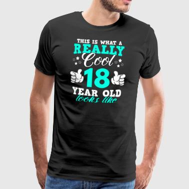 18 Years Old This is what a really cool 18 year old looks like - Men's Premium T-Shirt