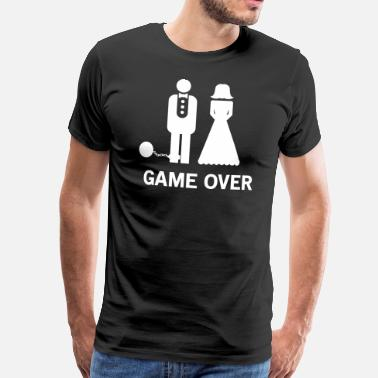 Weddings Game Over Wedding - Men's Premium T-Shirt