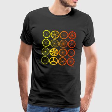 Bike wheels land orange - T-shirt Premium Homme