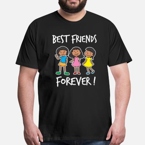 Best Friends Of Three Best Friends Forever Girl Squad Gift Mens