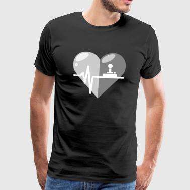 Frequency Joystick heartbeat - Men's Premium T-Shirt
