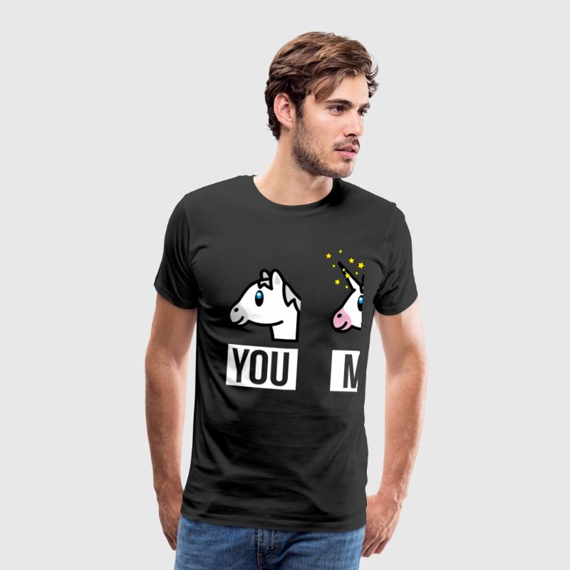 SmileyWorld You Me Horse Vs Unicorn - Premium T-skjorte for menn