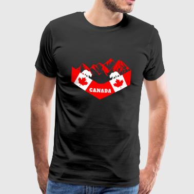 Canada mountains - Men's Premium T-Shirt