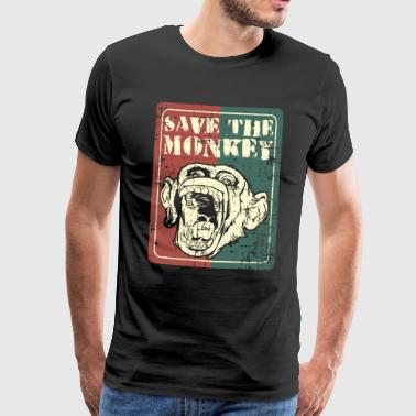 Save the monkey - Men's Premium T-Shirt