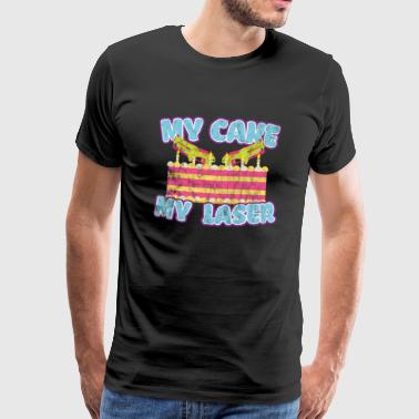 My cake My laser - Men's Premium T-Shirt