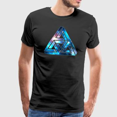 Impossible Triangle, Optical Illusion, Galaxy  - Miesten premium t-paita