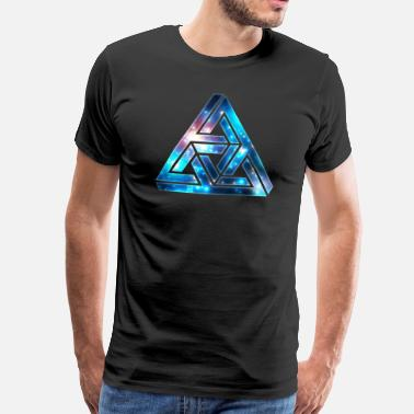Optique  Triangle impossible, illusion optique, galaxie  - T-shirt Premium Homme