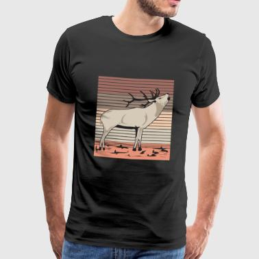 Deer red deer fallow deer roe deer gift - Men's Premium T-Shirt